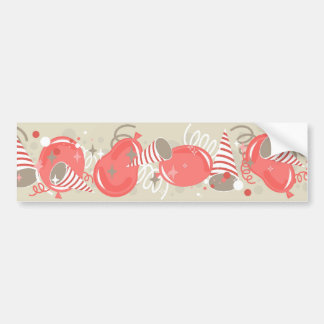 red baloons party car bumper sticker