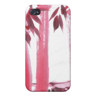 Red Bamboo i Case For iPhone 4