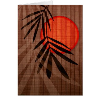 Red Bamboo Moon - Customized Card