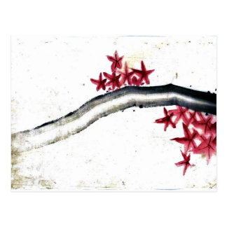 Red Bamboo Postcard