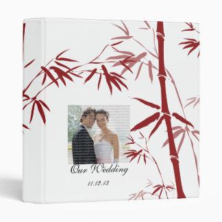Red Bamboo Wedding Photo Album 3 Ring Binder