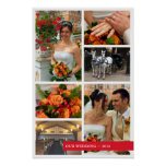 Red Band 6 Multi Photo Collage Memories Keepsake Poster at Zazzle