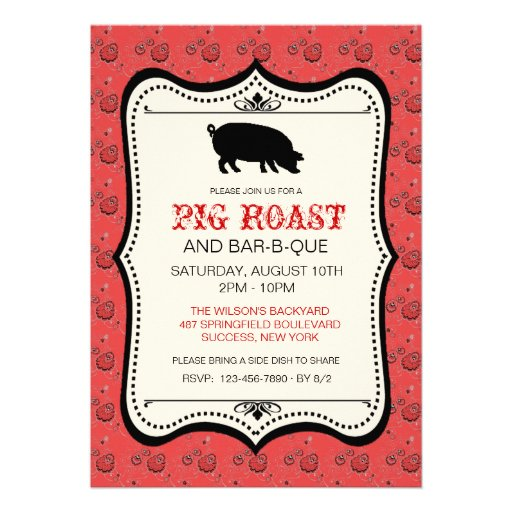 Pig Roast Invitation Template is perfect invitations layout