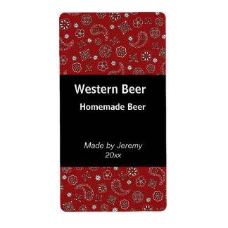 Red Bandana Beer Label