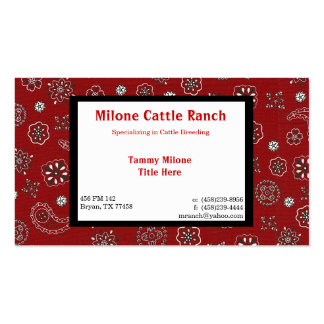 Red Bandana Business Card with 2 Custom Sides