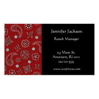 Red Bandana Business Cards