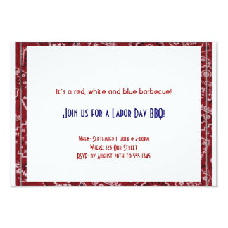 Red Bandana Frame Labor Day Invitation