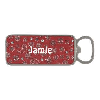 Red Bandana Magnetic Bottle Opener