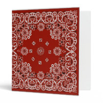 Red Bandana notebook Binder