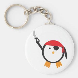 Red Bandana Pirate Penguin Keychain