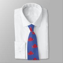 Red Bandana Print Cowboy Hat Western Tie