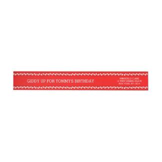 Red Bandana | Return Address Wrap Wrap Around Label