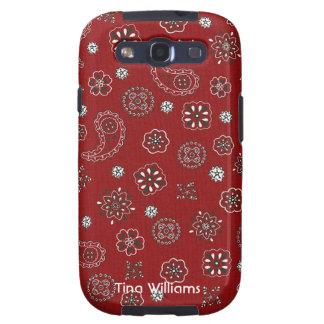 Red Bandana Samsung Galaxy 3G Case Samsung Galaxy SIII Case