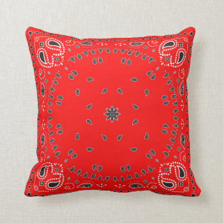 Red Bandana Throw Pillow