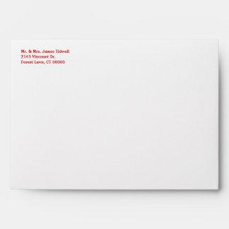 Red Bandana Western Invitation Envelope