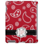 Red Bandanna Country Paisley Personalized