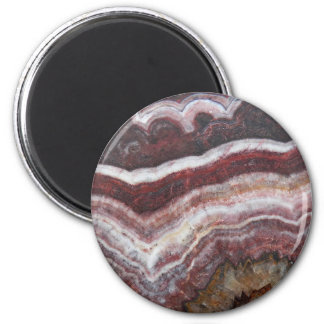 Red Banded Agate Image 2 Inch Round Magnet