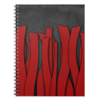 Red Bandelettes Notebook