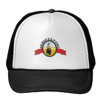 red banner ag girl trucker hat