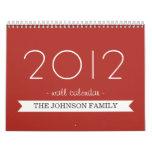 Red Banner Your Photos 2012 Wall Calendar