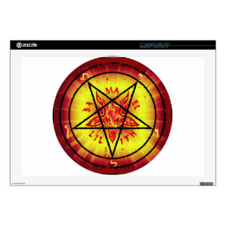 Red Baphomet Decal For Laptop