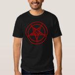 Red Baphomet Pentagram Tee Shirt