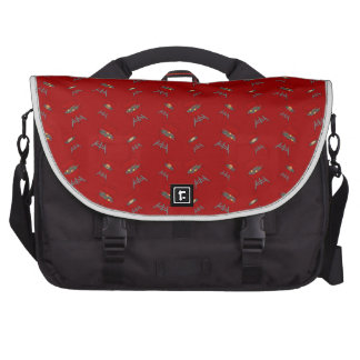red barbeque pattern computer bag