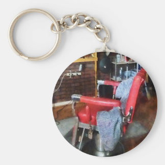 Red Barber Chair Keychain