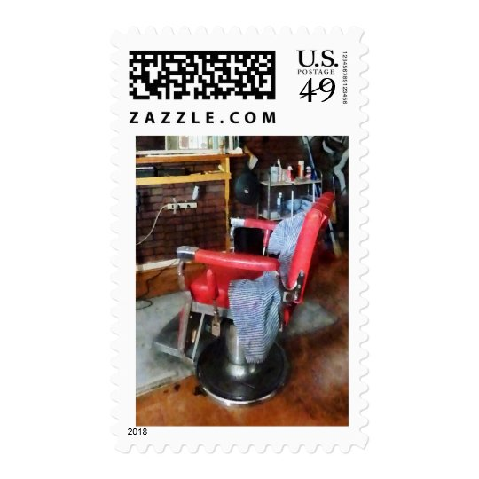 Red Barber Chair Postage