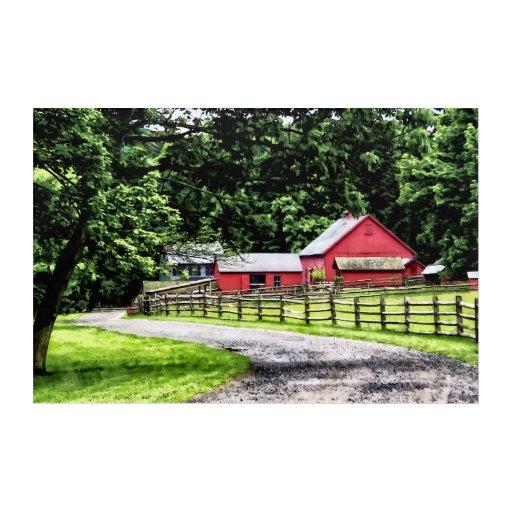 Red Barn Wall Decor : Red barn acrylic wall art zazzle