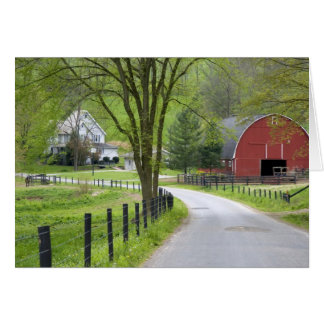 Red barn and farm house near Berlin, Ohio. Card