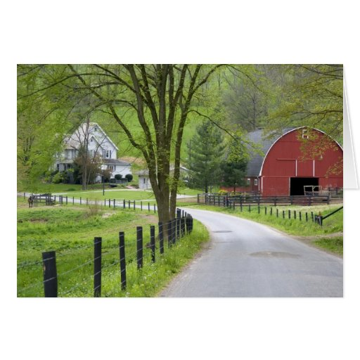 Red barn and farm house near berlin ohio greeting card zazzle