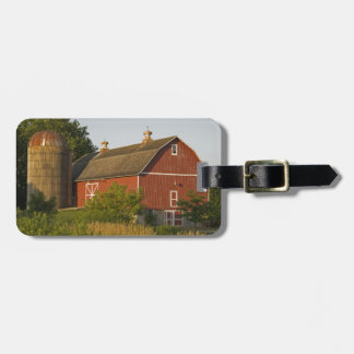 Red Barn and Silo Country Farm Luggage Tag