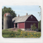 Red Barn and Silo Mouse Pad