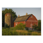 Red Barn and Silo Posters
