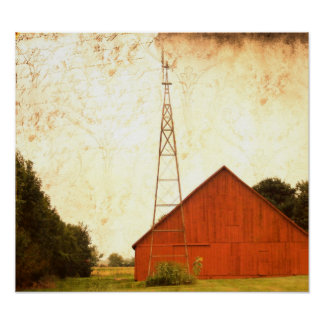 Red Barn Art 2 Posters
