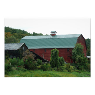 Red Barn Bliss 19 x 13 Photographic Print