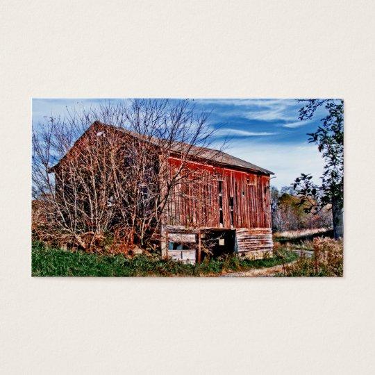 Red Barn. Blue Sky. Business Card