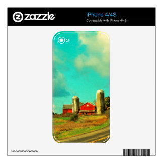 red Barn Blue Sky Skin For The iPhone 4S