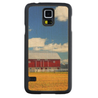 Red Barn Carved Maple Galaxy S5 Slim Case