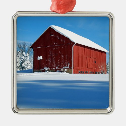 Red Barn Christmas Tree Ornaments
