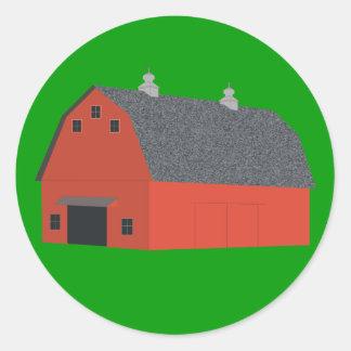 Red Barn Classic Round Sticker