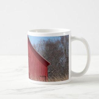 Red barn classic white coffee mug