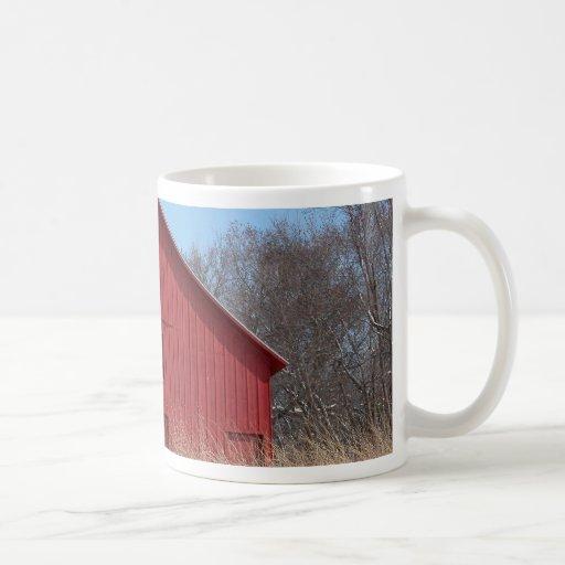 Red barn coffee mug