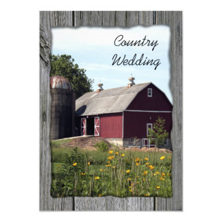 Red Barn Country Wedding Save the Date Card