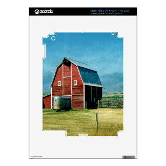 Red Barn Decals For iPad 3
