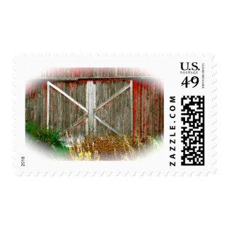 Red Barn Doors Postage