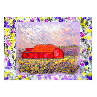 red barn drip large business card
