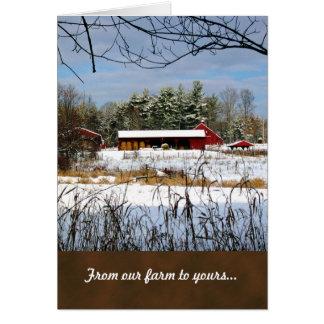 Red Barn Farm Christmas Greeting Cards