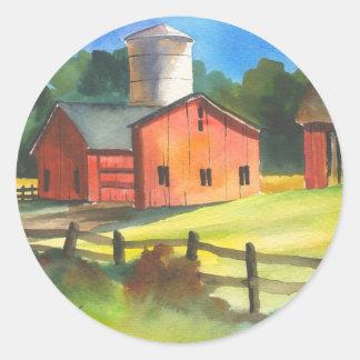 Red Barn Farm Classic Round Sticker